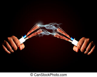 Electricity. - Power cable and electric discharge.