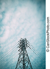 electricity power line pylon