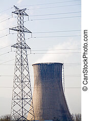 Electricity Pylon and Cooling Tower