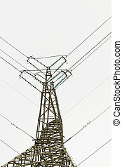 Detail of electricity pylon against sky