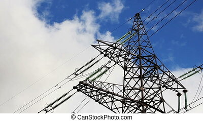 Electricity pylon - High voltage power pylon.