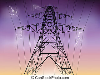 Electricity Pylon Illustration