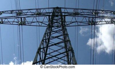 electricity pylon - Power Lines - Time-lapse