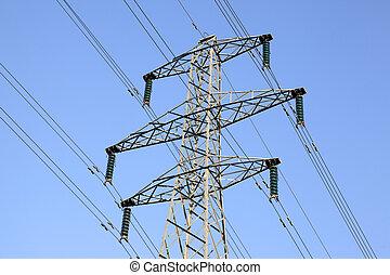 electricity pylon queens drive nottingham england uk