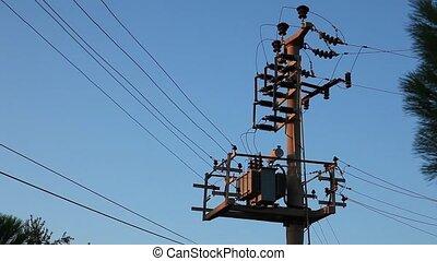 electricity pylon tilt shoot