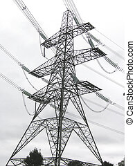 electricity pylon transporting electric across the country