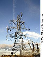 Electricity Supply Pylon - Electricity supply ceramic...