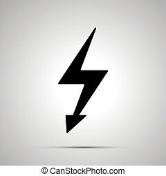 Electricity symbol, simple black power icon