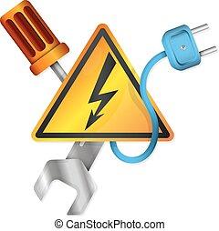 Electricity symbols vector - Electricity with vector symbols...