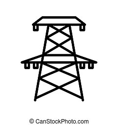 electricity tower illustration design