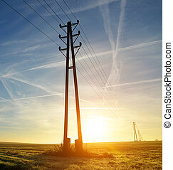 Electricity transmission pylons
