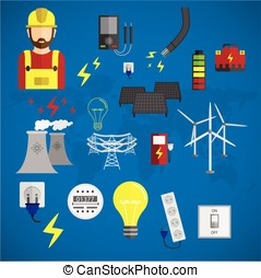 electricity vector illustration