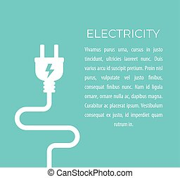 electricity vector illustration with electric plug