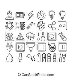 electrick icon set