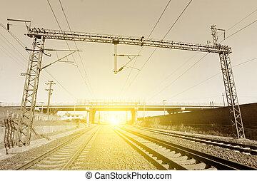 electrification railway contact net steel column, north china