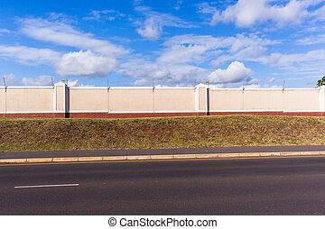 Electrified Boundary Wall Road