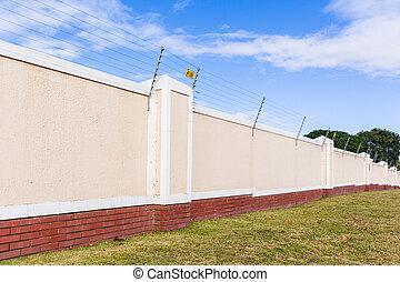 Electrified Fence Boundary Wall