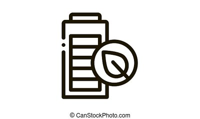 electro car battery Icon Animation. black electro car battery animated icon on white background
