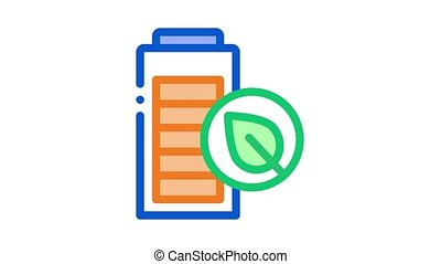 electro car battery Icon Animation. color electro car battery animated icon on white background