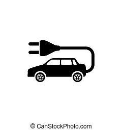 Electro Car Flat Vector Icon