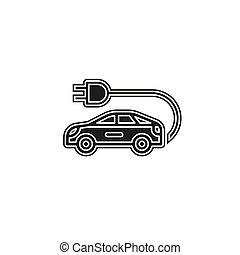 Electro car icon. Logo element illustration