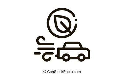 electro car speed Icon Animation. black electro car speed animated icon on white background