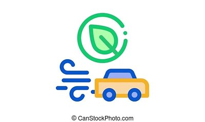 electro car speed Icon Animation. color electro car speed animated icon on white background