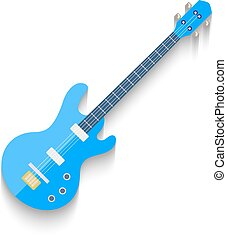 Electro Guitar Flat Design isolated on white background. Vector