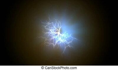 electro thunder light abstract 4k