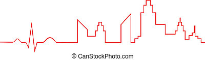 Electrocardiogram City Life - Electrocardiogram Indicate...