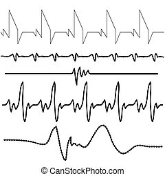 electrocardiogram - illustration with electrocardiogram set...