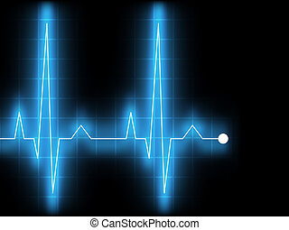 Electrocardiogram (EKG). EPS 8 vector file included