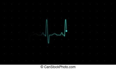 Electrocardiogram heart rate on the screen of medical...