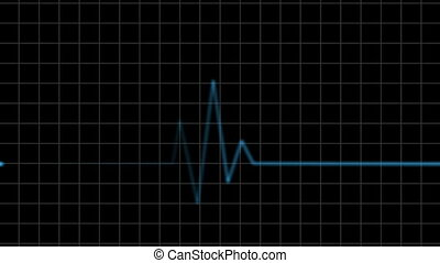Electrocardiogram. Heartbeat waves Seamless loop