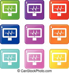 Electrocardiogram monitor set 9