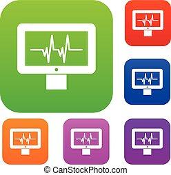Electrocardiogram monitor set collection