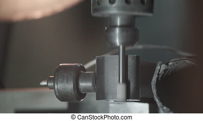 Industrial plot of CNC machine tools for metal products