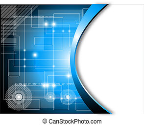 Electronic abstract background. Full editable vector illustration