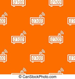 Electronic alarm clock pattern orange