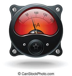 Electronic analog VU signal meter