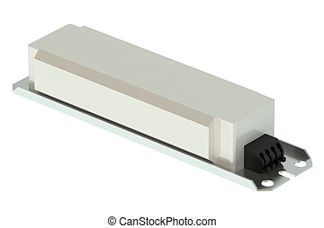 Electronic Ballast isolated on white background