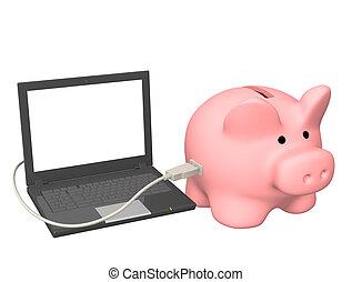 Conceptual image - electronic bank account