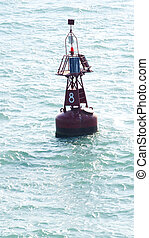 Electronic bollard light in port of Tunisia, North Africa