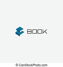 Electronic book app logo. Reading and studying symbol.Education emblem. School, college, university icon. Proofreading and print publishing house vector illustration. Isolated library, press sign