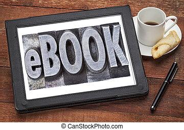 (electronic, book), ebook