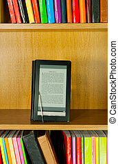 Electronic book reader - Electronic library concept