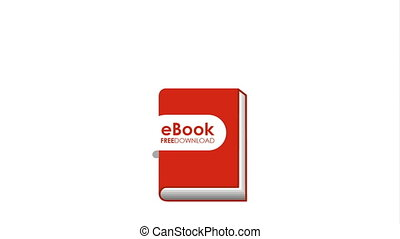 electronic book technology , hd video animation