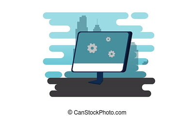 electronic business with desktop technology hd - electronic...