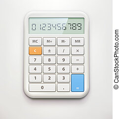 Electronic calculator - illustration of realistic electronic...