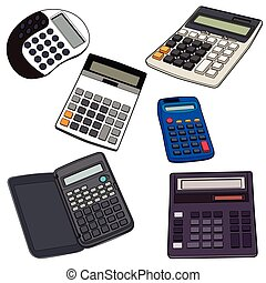 electronic calculator vector illustration